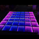 2019 new portable mirror illusion wedding party colourful 3d led dance floor with CE certificate