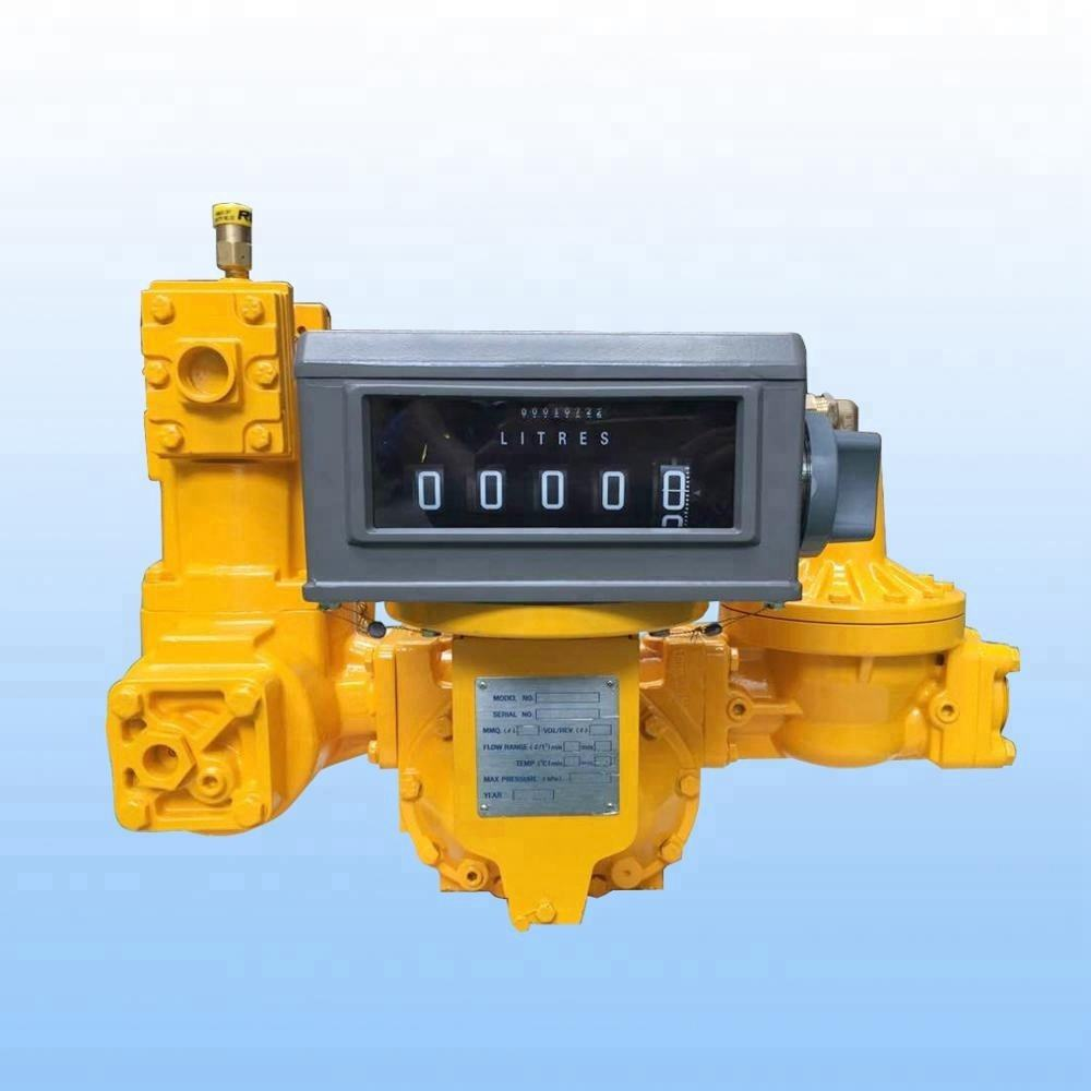 "wholesale big flow rate fast speed 2"" LPG positive displacement flow meter LC meter with bypass valve"