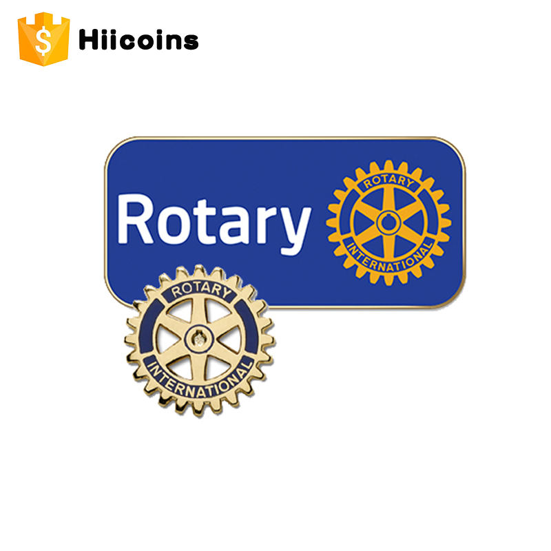 Factory Wholesale Rotary International Metal Lapel Pin
