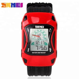 Skmei New Fashion Children Waterproof Watch Small Car Designer Kids Wristwatches Hot Sale Boys Digital Watches