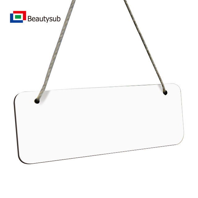 blank MDF sign plate for sublimation printing