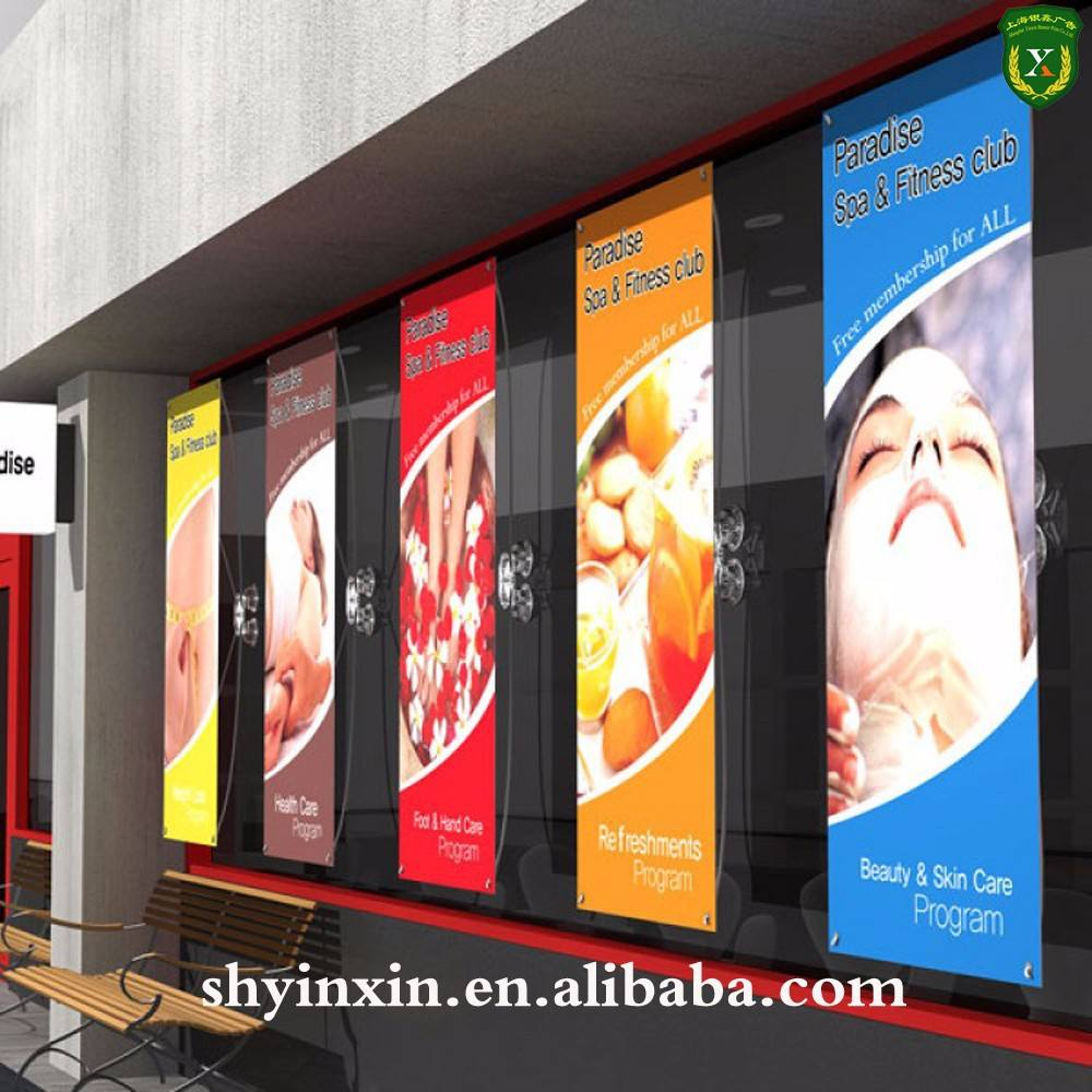 Fast delivery hanging advertising Banners digital printing for sign banners