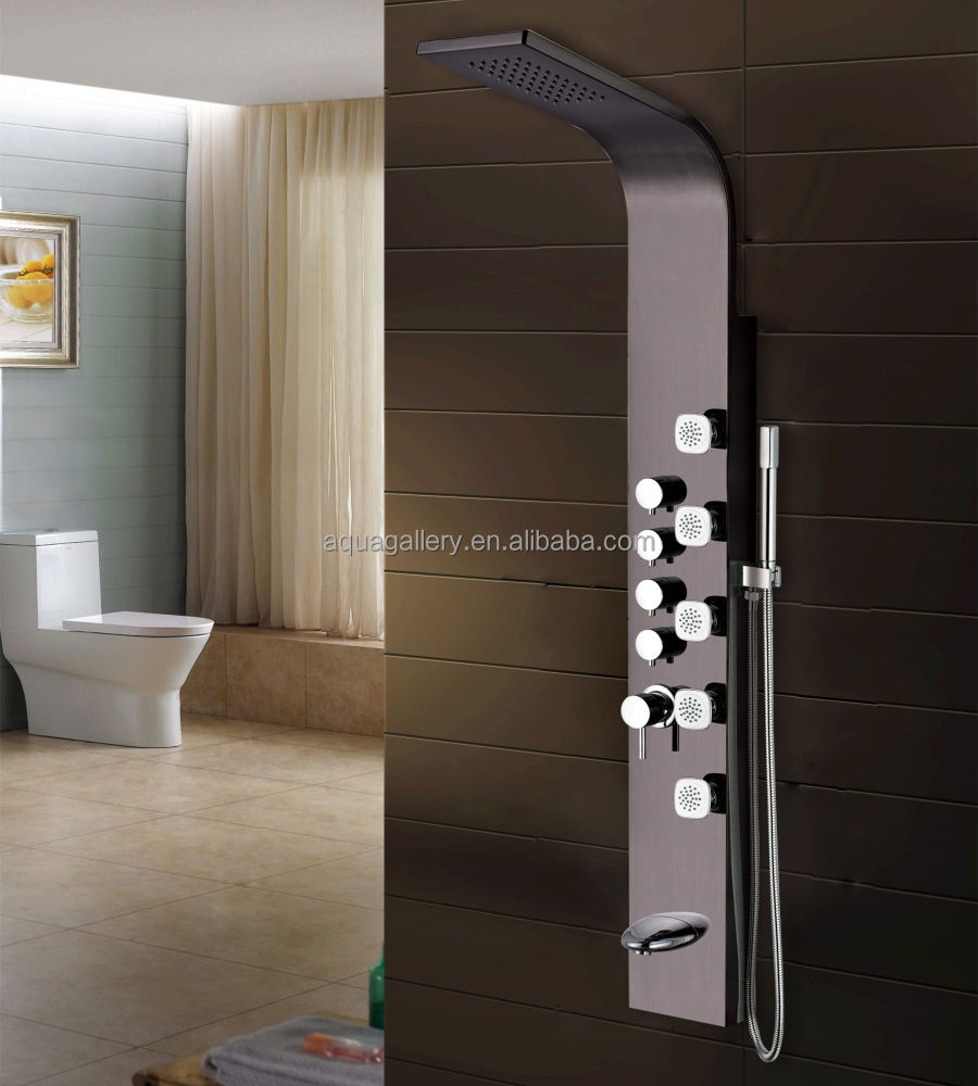 Modern Luxury Design Hot and Cold Wall Shower Panel