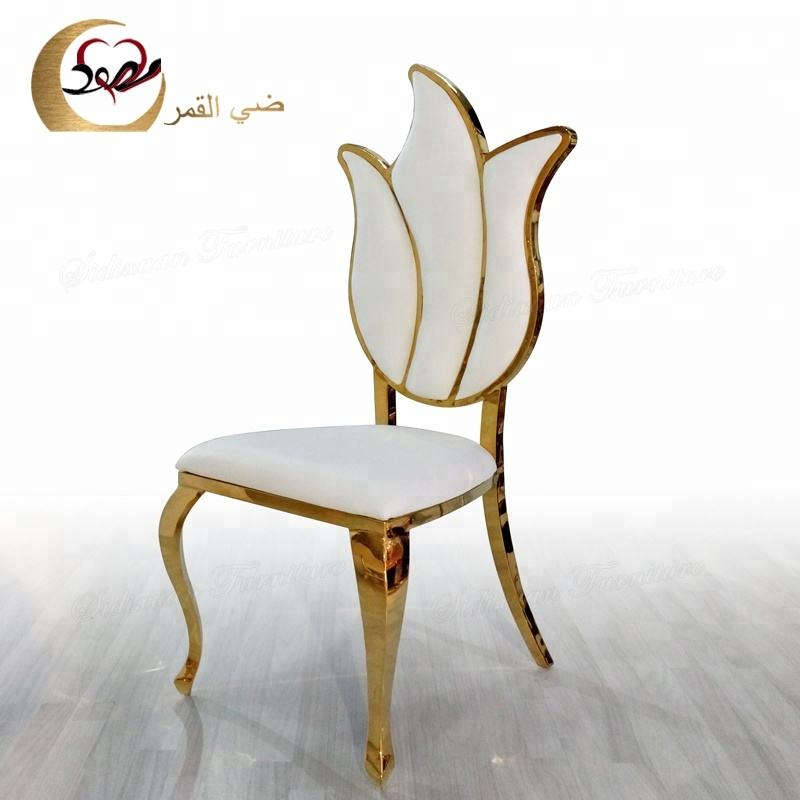 Banquet furniture stainless steel metal gold royal chair