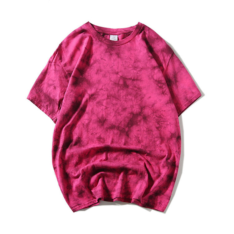 Unisex T Shirt Printing Tie Dye Short Sleeve Men's T Shirt