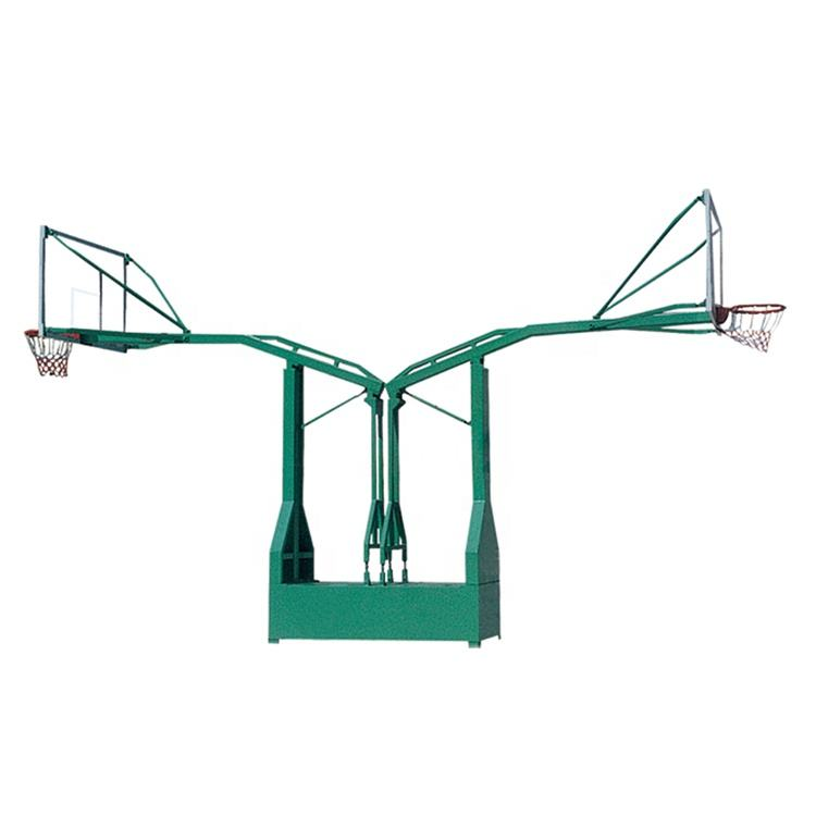 Flying Style Flat Box Double Extend Arm Copying Hydraulic Steel Portable Basketball Goal Hoop Stand System