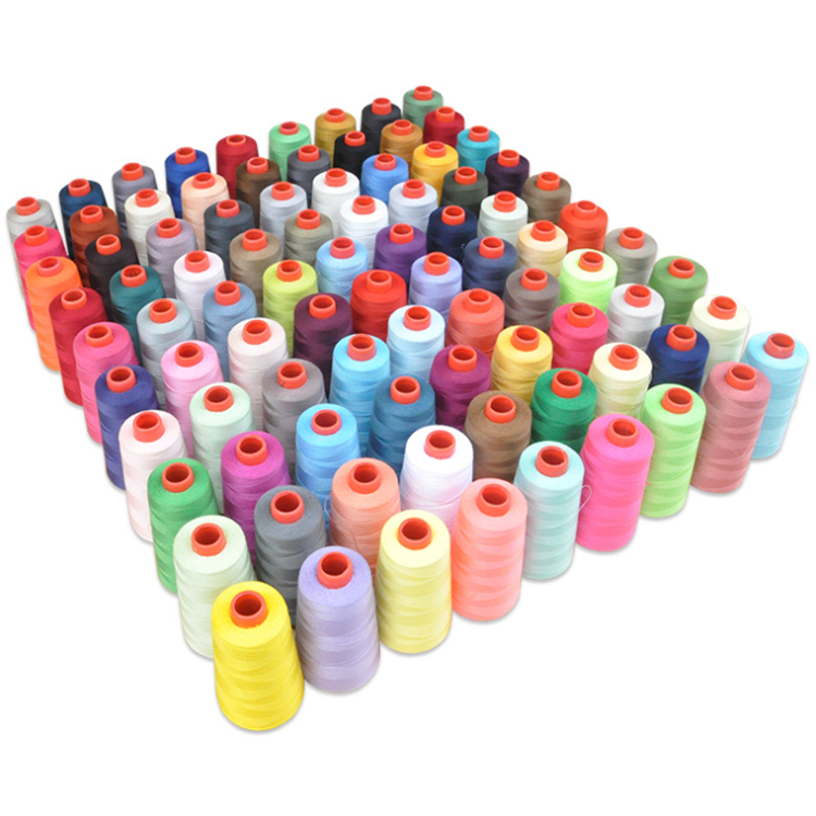 High Quality Wholesale 40/2 3000Yards/cone High Speed Spun 100% Polyester Sewing Thread