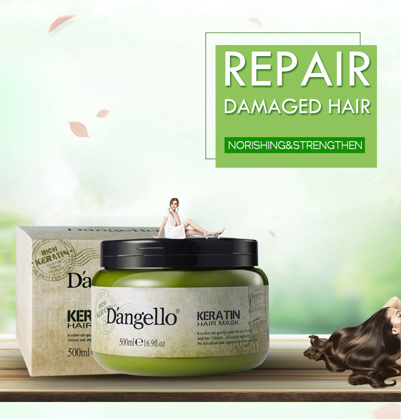 Free Sample D'angello organic protein rehydrate collagen bio keratin hair mask