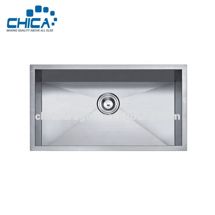 32x19x10 inches 18 Gauge SUS304 Stainless Steel Single Bowl Undermount Farmhouse Handmade Kitchen Sink