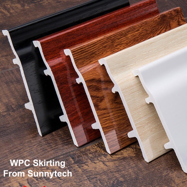 Wood PVC Composite skirting board