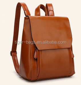 Wholesale Vintage Leather backpack, Durable Leather Travel Backpack 2016
