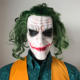 Cosplay Latex Masks With Green Hair Wig Scary Halloween Party Costume Props Joker Mask Movie The Dark Knight Horror Clown