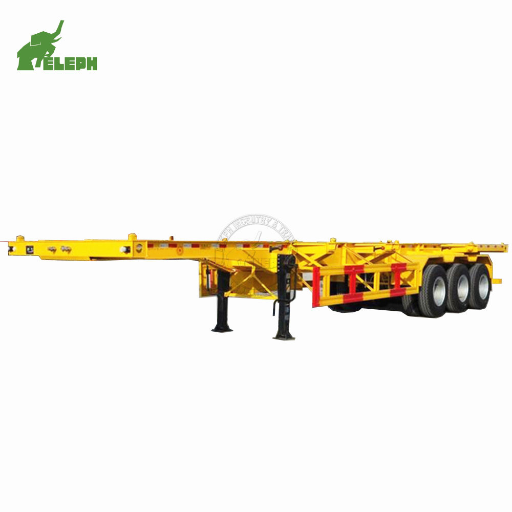 Model China Trailer Pabrik BIG SALE 2019 Baru 3 Axle Kontainer 40ft Trailer Truk Chasis Skeleton Semi Trailer