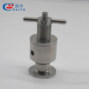 HaiYu Low Price Sanitary Stainless Steel Gas Safety Valve