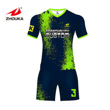 Wholesale Cheap Club and Team Latest Designs Youth Sublimated Neon Green Soccer Uniform Set Custom football jersey