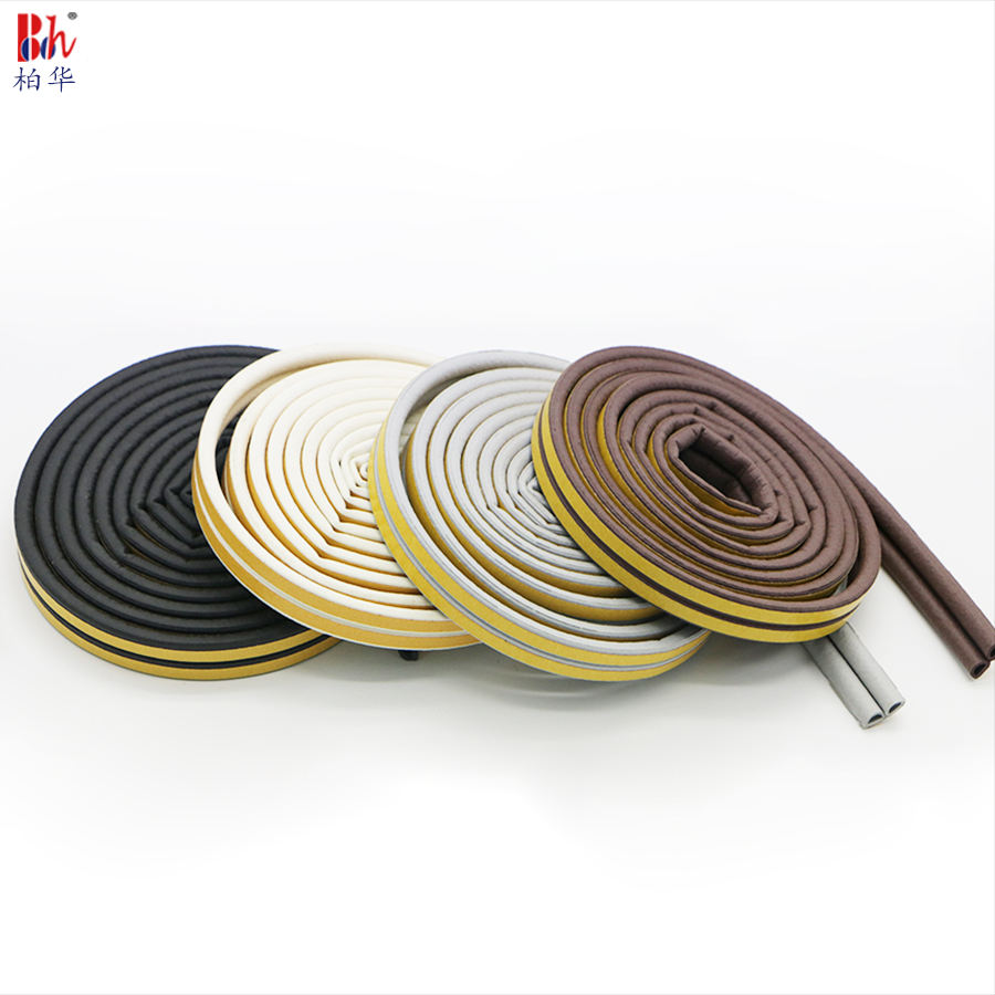 EPDM 3M Rubber Door Window Frame Seals Foam Weather Stripping Sound Insulation Sealing Strips Draught Excluder Self Adhesive