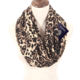 2019 Hot Selling print fashion pocket infinity custom made printed polyester Leopard scarf