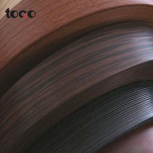 Wood grain pvc edge banding lipping finishing edge plywood tape finishing raw edge wood trim