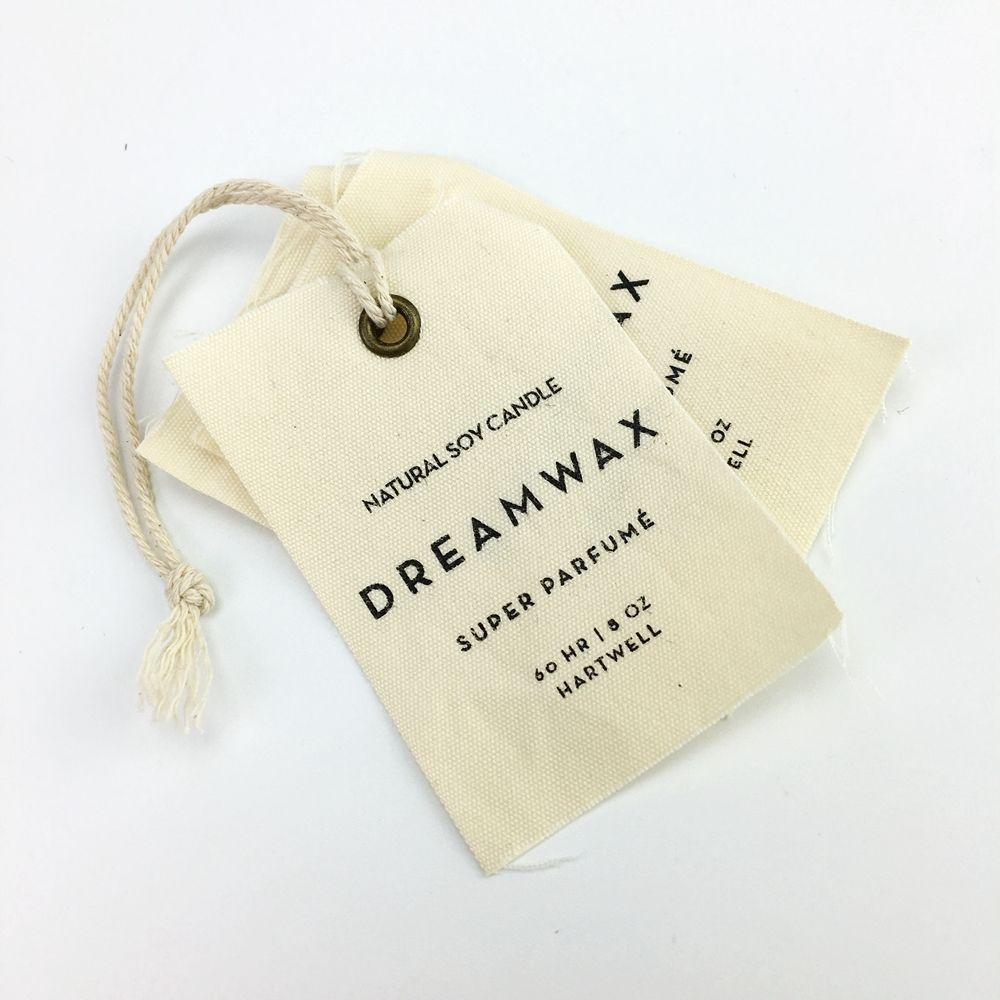 custom canvas hang tag clothes labels hang tag