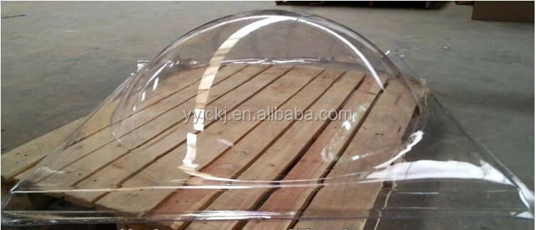 10mm round transparent pc solid dome skylight /solid polycarbonate dome skylight