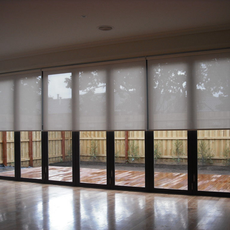 Sheer Elegant Slider Window Treatments Cordless Indoor Horizontal Spring Roller Blinds And Curtains
