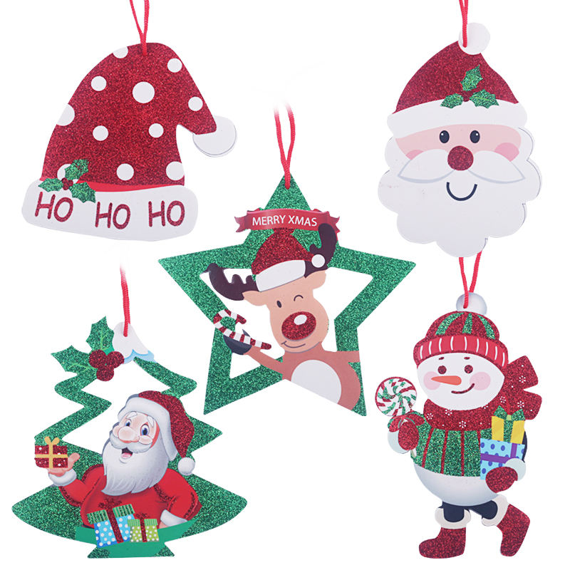2019 PE& PVC Artificial With Decoration Gift Snowman Figures Christmas Trees