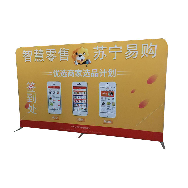 Tessuto Pop Up Banner Scenografia Display Stand