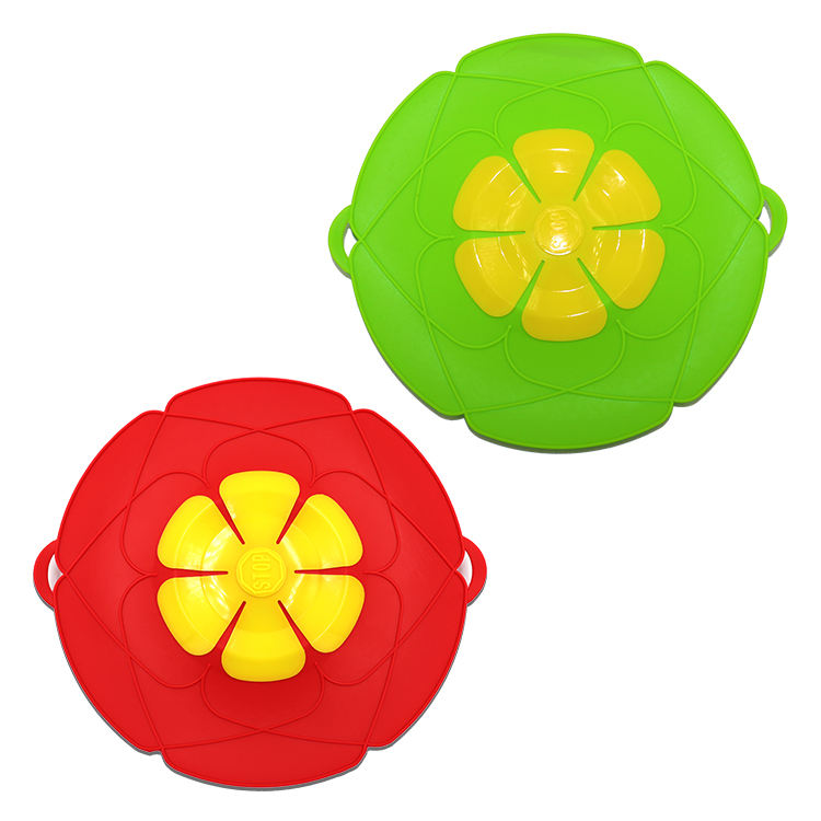 Accessories Cooking Tools Flower Cookware Utensil Silicone lid Spill Stopper Cover For Pot Pan
