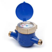 Hot sell in middle east OEM ISO4064 Class B 15mm-20mm multi jet dry type brass remote reading intelligent water meter