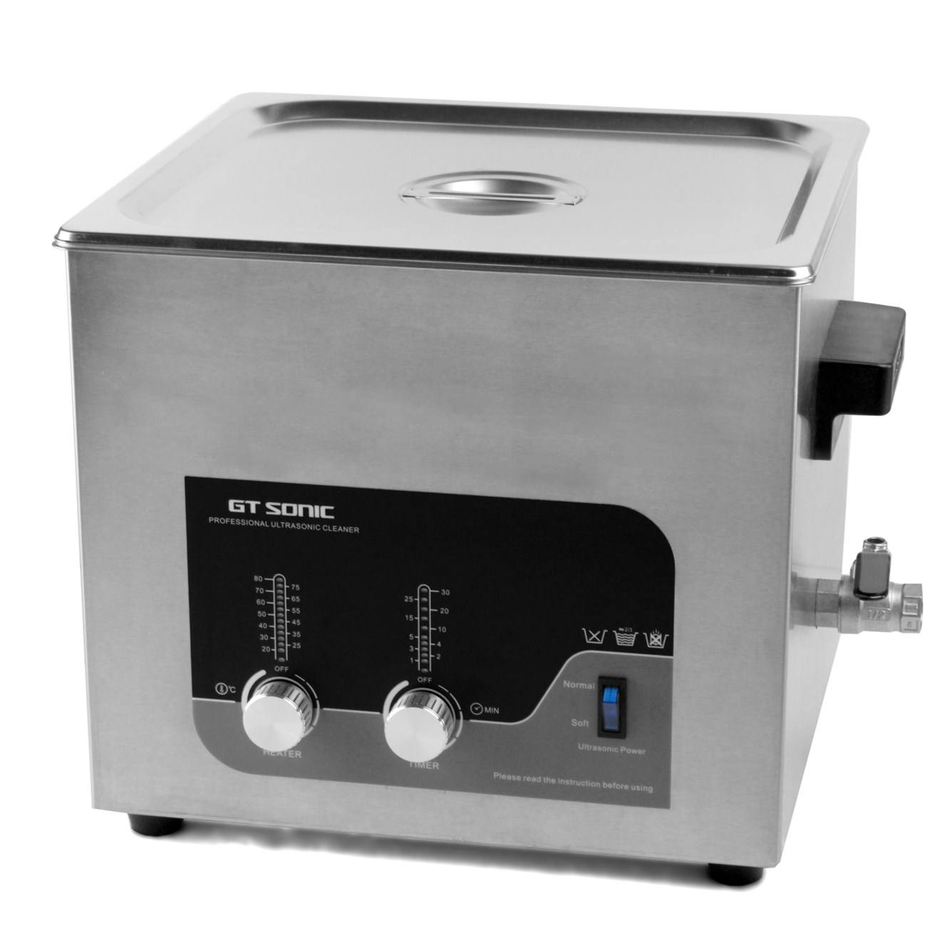 13L SUS304 stainless steel ultrasonic pcb cleaning machine with double power