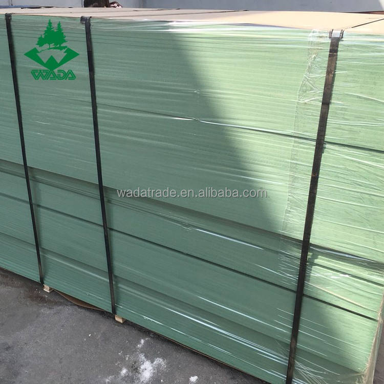 High quality anti-moisture 18mm thickness green MDF board