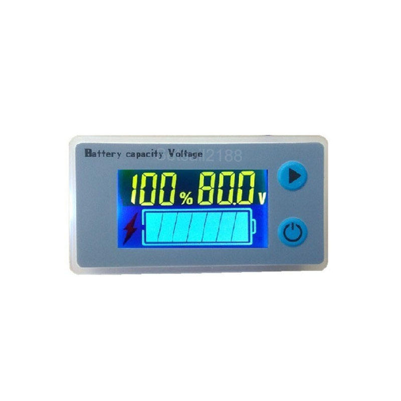 JS-C33 10-100V Digital LCD 3s 12V Lead Acid Lithium lifepo4 Battery voltage Capacity Indicator meter tester with buzzer