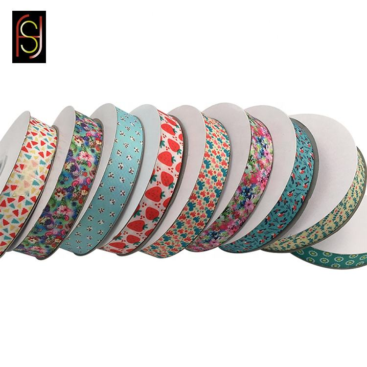 100% polyester gift packing baby craft sports promotion customized printed ribbon