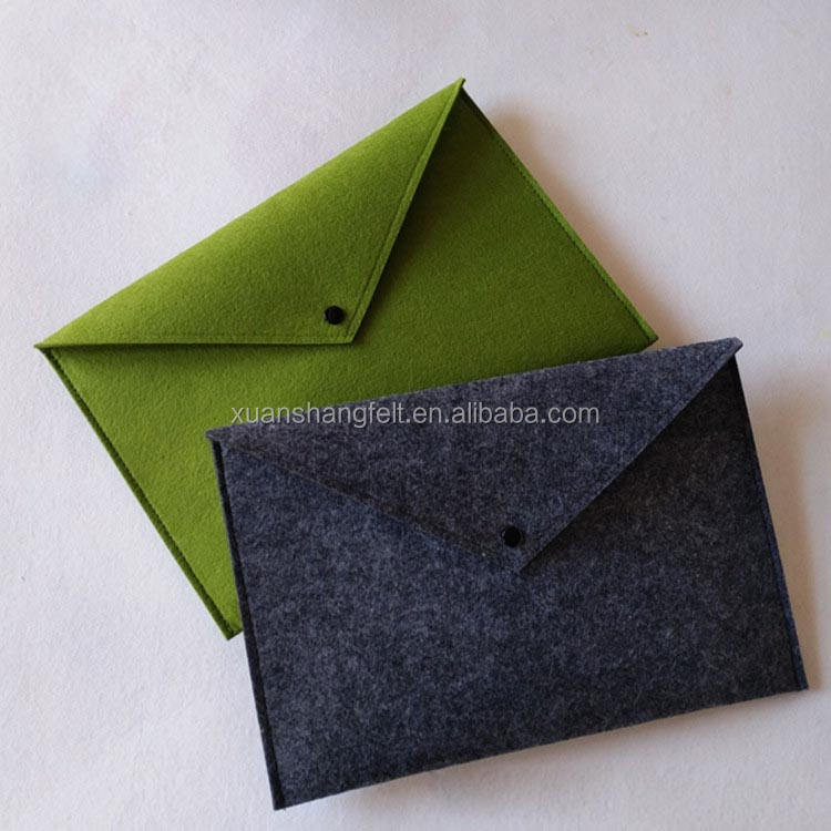 High quality best price fabric a4 document wallet / bag