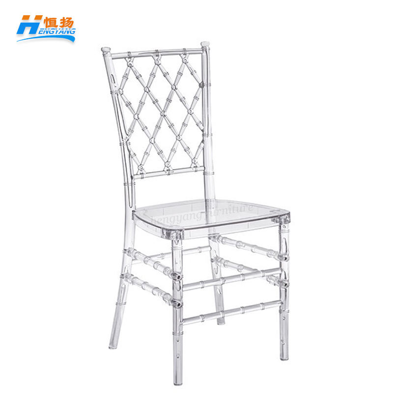 wholesale polycarbonate wedding white acrylic resin cross back chiavari chair