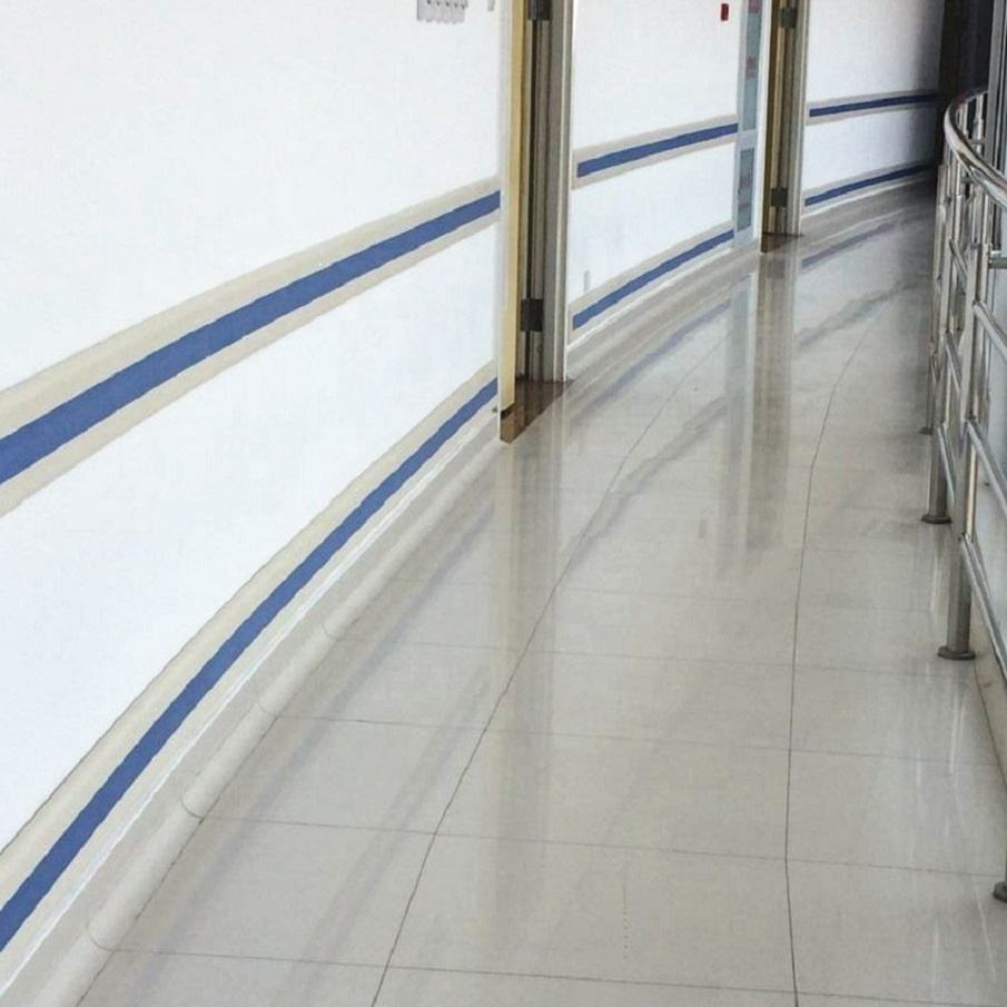 6155B Anti-Collision PVC Plastic Handrail Hospital Wall Bumper Guard
