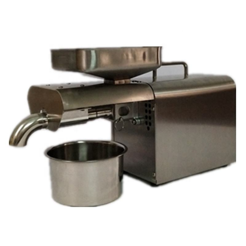 Stainless steel automatic small seed oil extractor machine cold oil pressed expeller peanut oil press machine for home