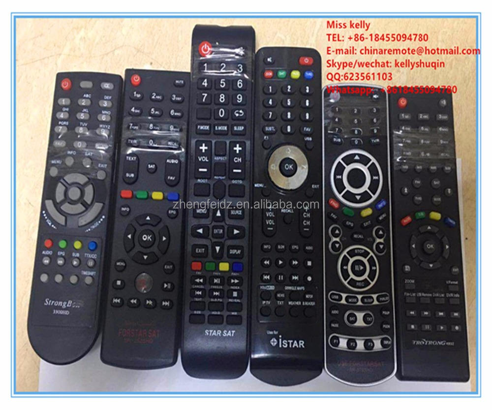 satellite receiver remote controller Strong Bon 3300HD STAR SAT SR-2625HD ISTAR SR-9797HD STRONG 4932