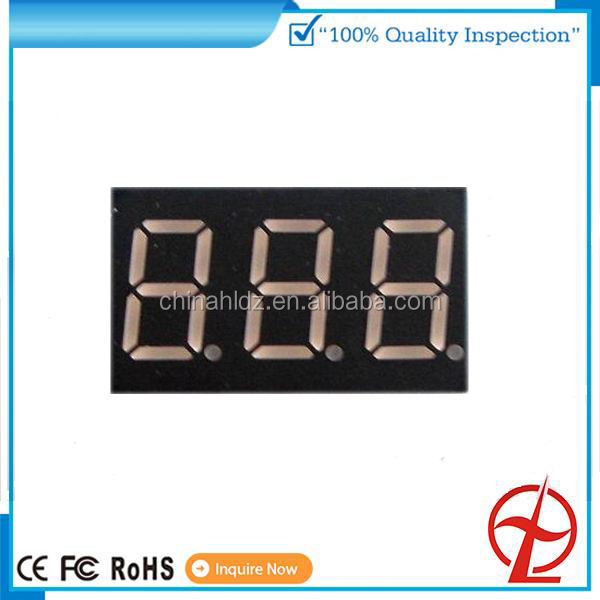 China fabrik rot orange farbe gelb grüne farbe 0,36 zoll 0,52 zoll 2 digit 3 digit 4 digit 7 segment led display