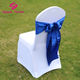 Inexpensive Navy Blue Satin Banquet Wedding Chair Sashes For Chair Cover