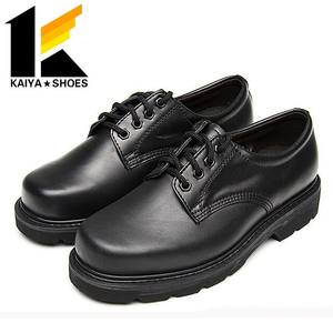 Military black leather army Police officer shoes for man
