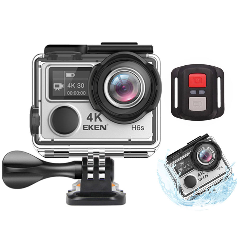 4K EKEN H6S Action Camera WIFI Waterproof Dual Screen Video Cam Remote Control Sport Camera 1080P