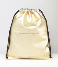 Fashionable Metallic Gold PU Gym Bag