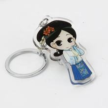 Custom plastic acrylic keychain small quantities