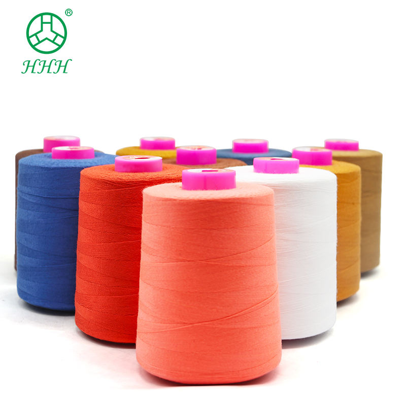 Manufacturers hilo de algodon Cotton Polyester Sewing Thread 20/3