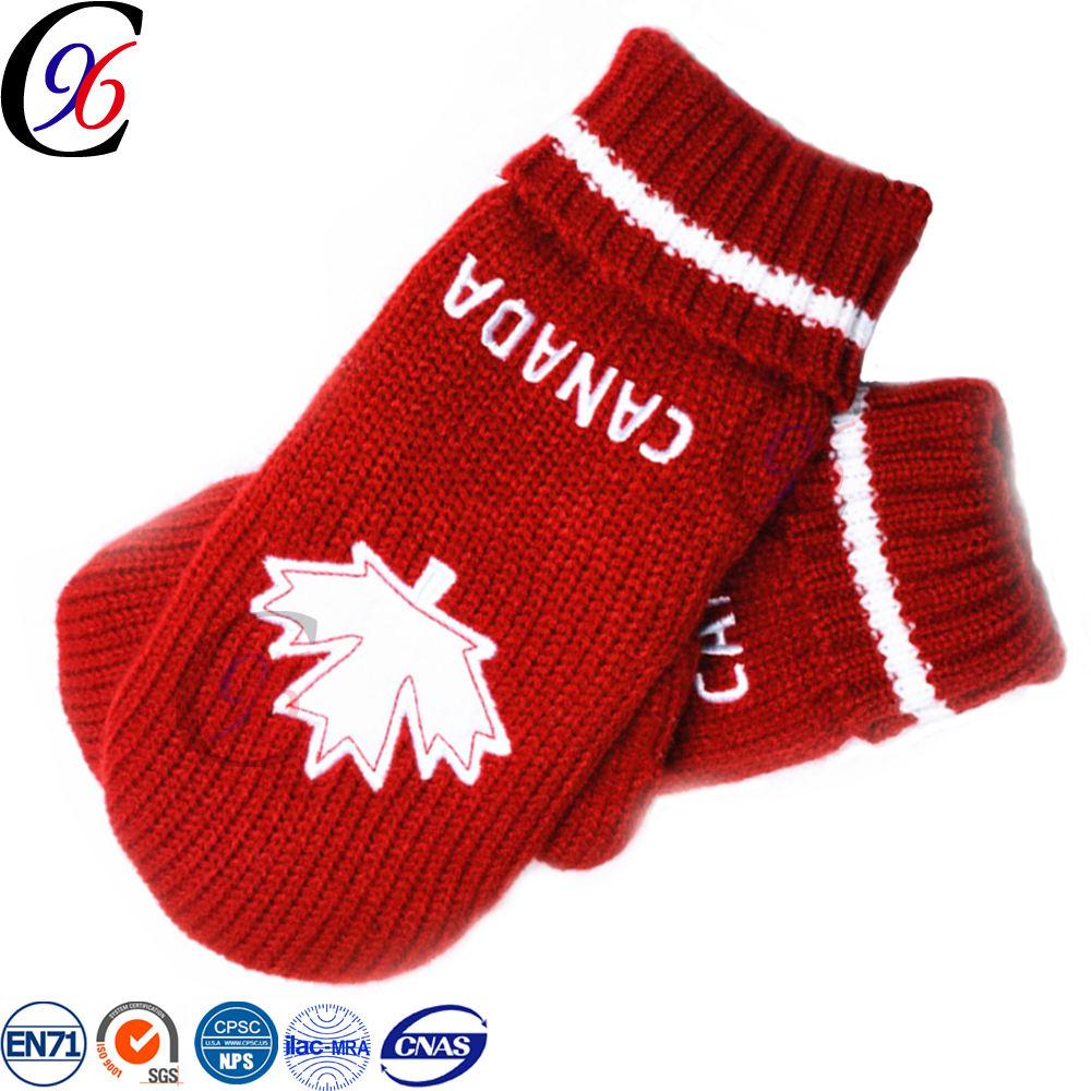 Chengxing marque en gros personnalisé tissé crochet d'hiver garder au chaud polaire pas cher mode jacquard tricoté bébé gants