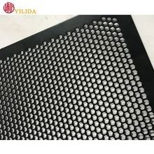 Perforated metal mesh for speaker grille