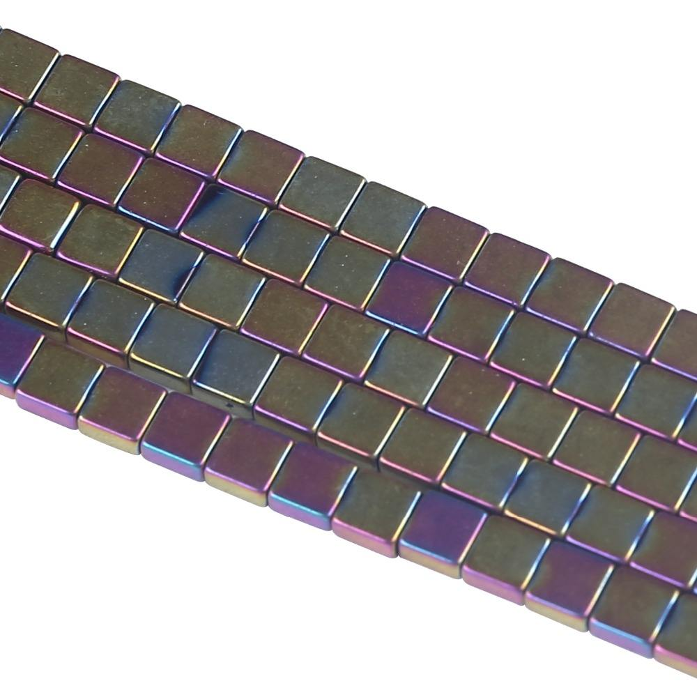 Square AB Color Hematite Beads for Jewelry Making