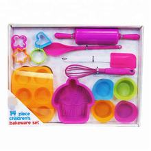 Baking & Pastry Tool Type 14 pieces Children Bakeware Baking Set / Kids Baking Tools Silicone Cupcake Cake Cutter Cookie Mould
