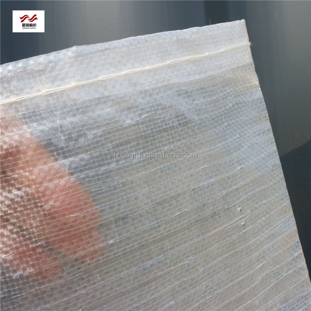 Transparent/clear PP woven bag recyclable rice sugar plastic woven bag sacks
